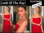 Look Of The Day Alia Bhatt Wearing Bright Red Dior Gown