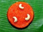 Delicious Orange Barfi For Akshaya Tritiya