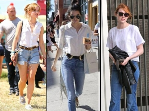 How To Wear White On Blue Learn From These Celebrities