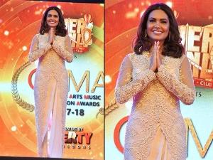 Esha Gupta S Royal Look Stuns Everyone At The Cama Awards
