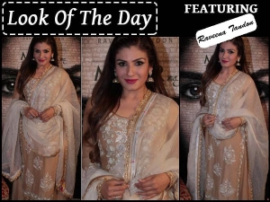 Raveena Tandon Wearing Sue Mue Lehenga