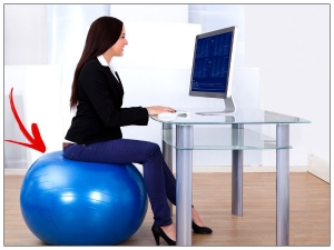 Benefits Of Using An Exercise Ball As A Chair