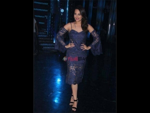 Sonakshi Sinha Does A Lace Fashion In Blue