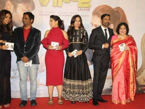 Redefining Classiness Kajol Red A Trailer Launch