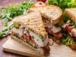 Grilled Omelet Sandwich With Fresh Mint Chutney For Suhoor