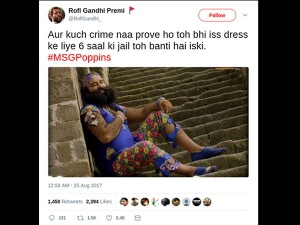 Twitter Explodes With Jokes Of Gurmeet Ram Rahim Gets Punished