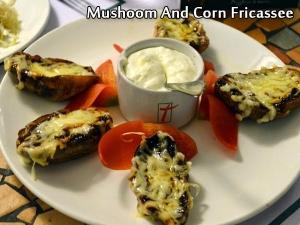 Mushroom And Corn Fricassee