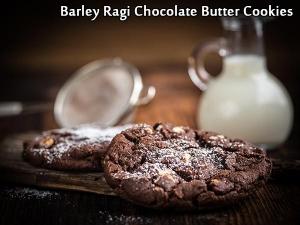 Barley Ragi Chocolate Butter Cookies