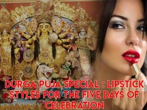 Lipstick Styles For Durga Puja