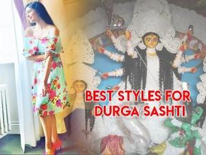 Durga Puja Types Dresses Maha Sashti