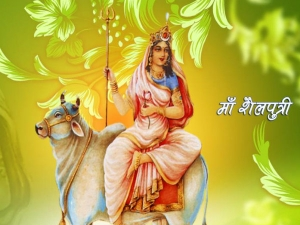 The Goddess Of The First Day Of Navaratri Goddess Shailaputri