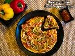 Cheese Onion Bell Pepper Pizza