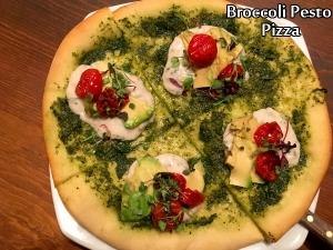 Broccoli Pesto Pizza