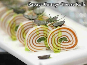 Papaya Cottage Cheese Rolls