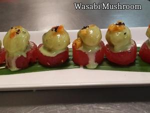 Wasabi Mushroom On Compressed Watermelon Recipe