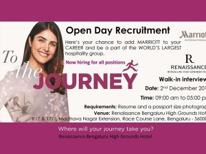 Have Fun And Get Hired At The Renaissance Bangalore High Grounds Hotel