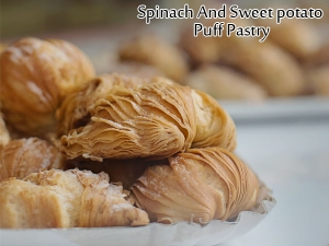 Spinach And Sweet Potato Puff Pastry