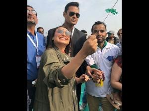 Rani Mukerji Starts Promoting Hichki In Style At Ahmedabad