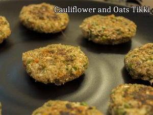 Cauliflower Oats Tikki