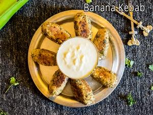 Navratri Special Raw Banana Kebab Recipe