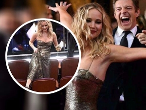 Jennifer Lawrence Hams It Up At The Oscars