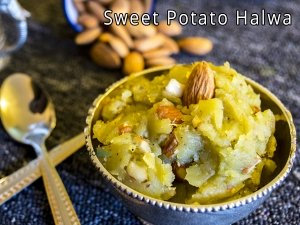 SWEET POTATO HALWA RECIPE | HOW TO MAKE SWEET POTATO HALWA| SHAKARKANDI HALWA RECIPE