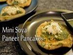 Mini Soya Paneer Pancakes