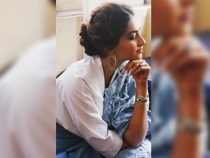 Sonam S Distressed Denim Sari Will Have Your Mind All Blown Away