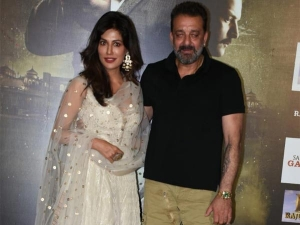 Sanju Baba Chitrangda Wowed Us Stylishly At The Trailer Laun