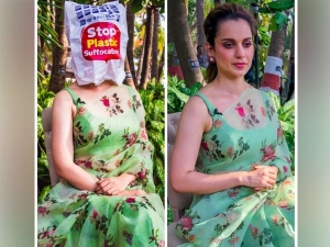 Kangana S Green Sari Is Bang On On This World Environment Day