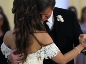 Father Daughter Dance Moment Turns Emotional On Hearing Recording Of Bride As Kid