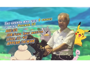 Grandpa Play Pokemon Go With 11 Phones And Becomes Internet Sensation