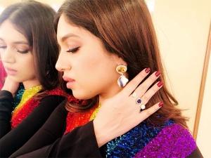Bhumi Pednekar Black Dress Photoshoot