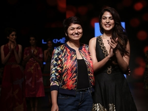 Rhea Chakraborty Showstopper Lakme Fashion Week