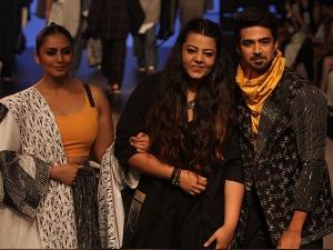 Huma Qureshi Saqib Saleem Showstoppers Lakme Fashion Week