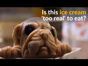 Taiwanese Restaurant Whips Up Puppy Ice Cream Almost Too Real To Eat