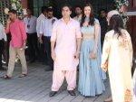 Arbaaz Khan Girlfriend Pastel Outfits At Ganesh Chaturthi