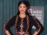 Shruti Haasan Floral Dress At Gq Men The Year Awards