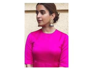 Sanya Malhotra Formal Wear Pataakha Promotions