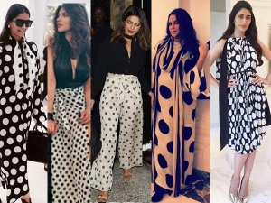 The Most Retro Black White Polka Dots Dress The Celebs