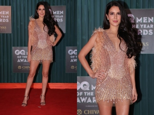 Isabelle Kaif Party Attire At Gq Men The Year Awards