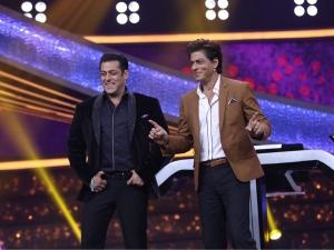 Shah Rukh Khan Salman Khan S Formal Suit At Reality Show