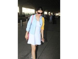 Hansika Motwani Dress Airport Look