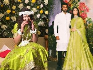 Yuvika Chaudhary Same Lehenga As Alia Bhatt Her Mehendi
