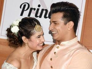 Prince Narula Yuvika Chaudhary Dreamy Outfits Sangeet Ceremony