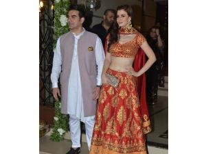 Arbaaz Khan Girlfriend Fashion At Shilpa Shetty S Diwali Bash