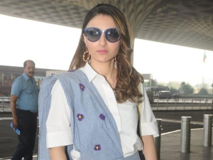 Soha Ali Khan Sari Outfit Airport Look Photoshoot