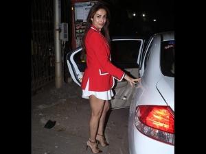 Malaika Arora S Red Blazer Dress Christmas Party