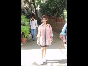 Sanya Malhotra Spotted The City A Quirky Look