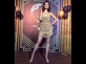 Karishma Tanna S Golden Dress Photoshoot